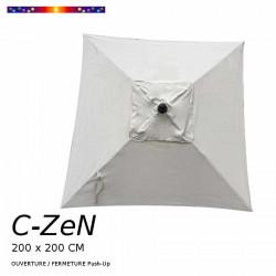 Parasol C-ZeN 200 x 200 cm : toile vue de dessus