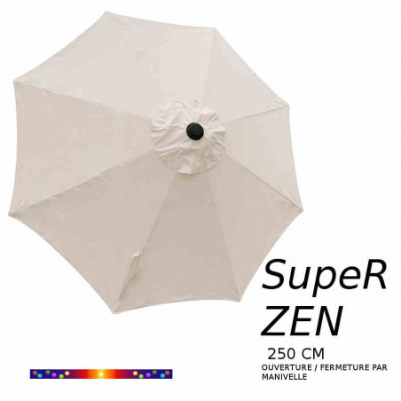 Parasol SupeR-Zen : toile vue de dessus