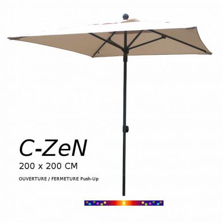 Parasol C-ZeN 200 x 200 cm : vu de face