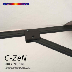 Parasol C-ZeN 200 x 200 cm : détail des baleines