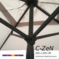 Parasol C-ZeN 200 x 200 cm : détail de la poignée