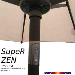 Parasol SupeR-Zen : détail du mécanisme d'inclinaison