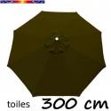 Toile second choix : Toile de remplacement pour parasol OCTOGONAL 300 cm COULEUR VERT OLIVE
