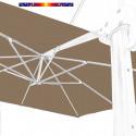 Toile second choix : Toile de remplacement 3x3 pour Parasol déporté Biscarrosse Taupe