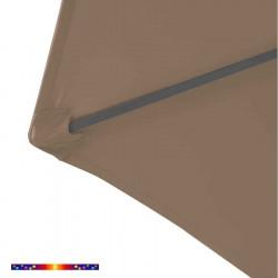 Toile de remplacement Taupe HEXAGONALE 300 cm pour parasol a mât central