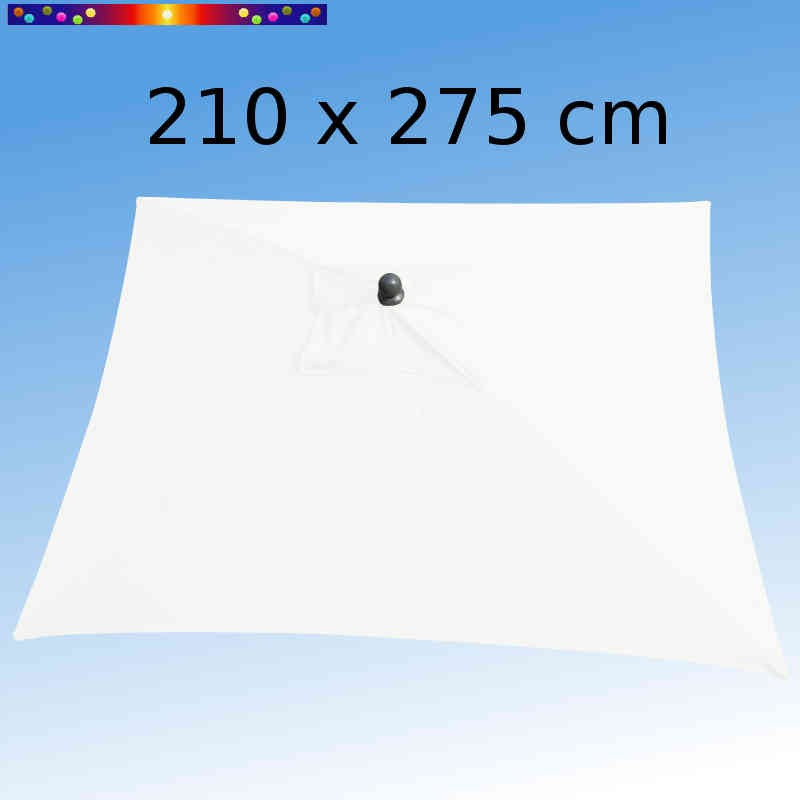 Parasol Arcachon Blanc 210 x 275 cm Alu : toile vue de dessus