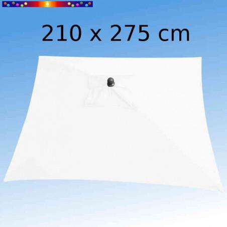 Parasol Arcachon Blanc 210 x 275 cm Alu