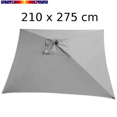 Parasol Arcachon Gris Perle 210 x 275 cm Alu : vu de dessus