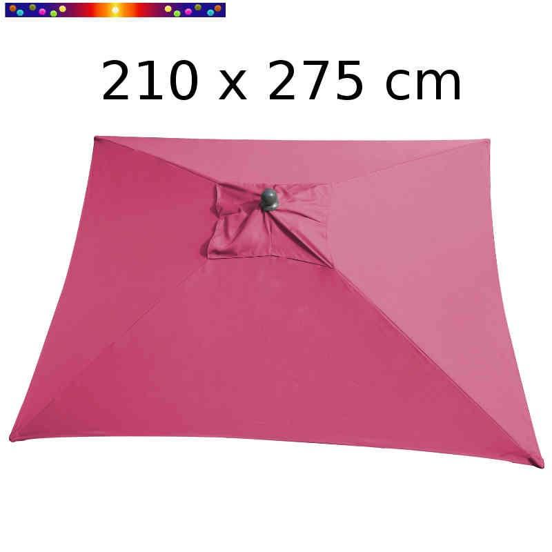 Parasol Arcachon Pivoine 210 x 275 cm Alu : vu de dessus
