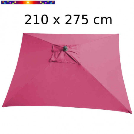 Parasol Arcachon Rose Pivoine 210 x 275 cm Alu