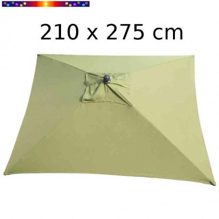 Parasol Arcachon Vert Mousse 210 x 275 cm Alu : vu de dessus