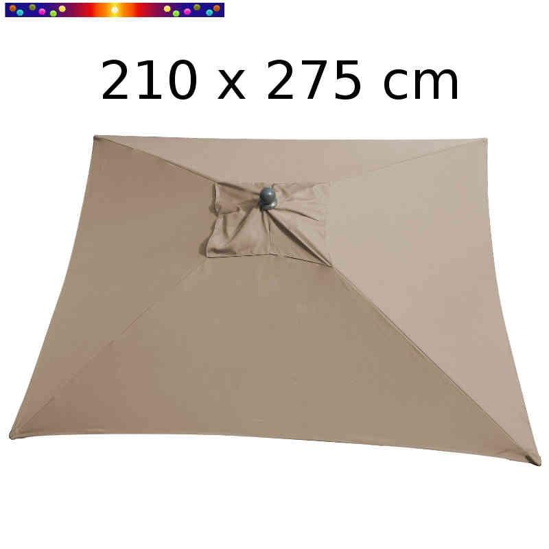 Parasol Arcachon Taupe 210 x 275 cm Alu : vu de dessus