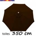 Toile second choix : Toile de remplacement pour parasol OCTOGONAL 350 cm Chocolat