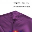 Toile de remplacement VIOLETTE pour parasol 300 cm : détail du fourreau