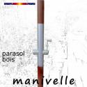 Parasol Lacanau Violette 300 cm Bois Manivelle : commande par manivelle