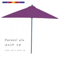 Parasol Lacanau Violette 200 cm x 200 cm Alu vu de face
