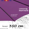 Parasol Lacanau Violette 350 cm Bois Manivelle : fourreau coté baleine