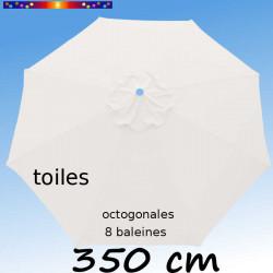 Toile en second choix : Toile à personnaliser pour parasol 350 cm Blanc Ecru