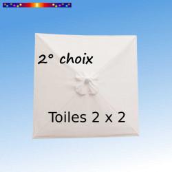 Toile second choix Carré 2x2 Toile de remplacement pour parasol carré 2x2