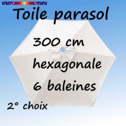 Toile en second choix : Toile de remplacement pour parasol HEXAGONAL 300 cm couleur Ecru Nature
