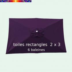 Toile de remplacement pour parasol rectangle 2x3 Aubergine