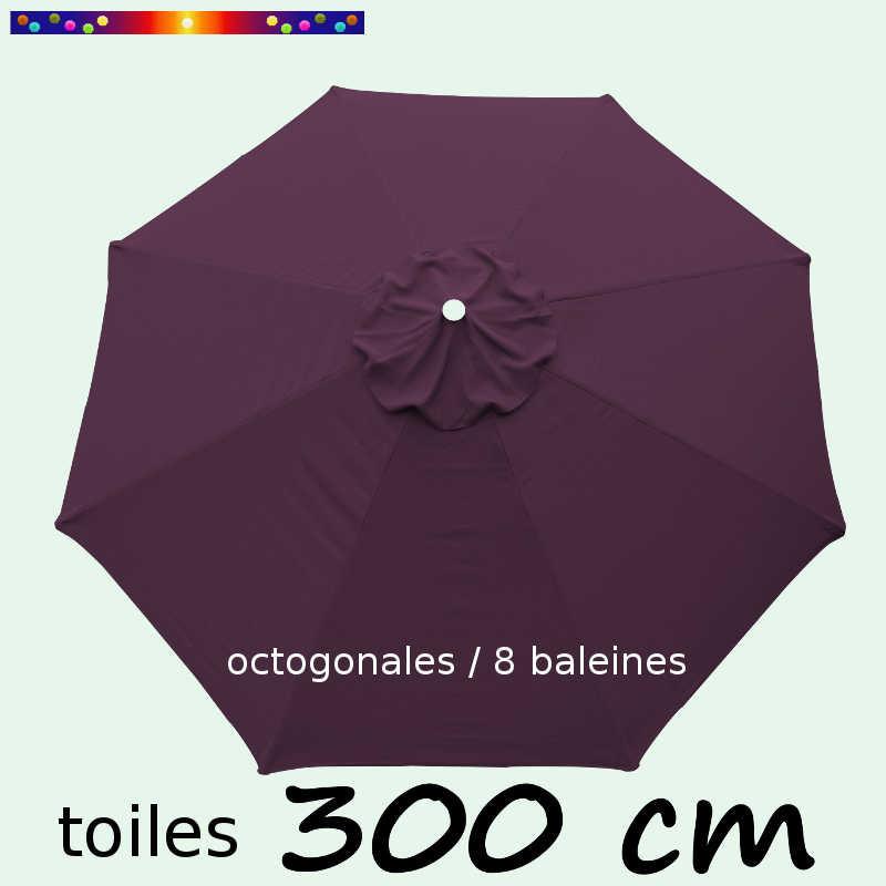 Toile de remplacement VIOLETTE pour parasol 300 cm : vue de dessus