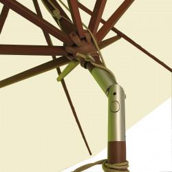 Parasol Lacanau Ecru Crème 300 cm Bois détail de l'inclinaison