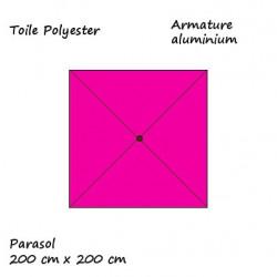 Parasol Lacanau Rose Fushia 200 cm x 200 cm : descriptif