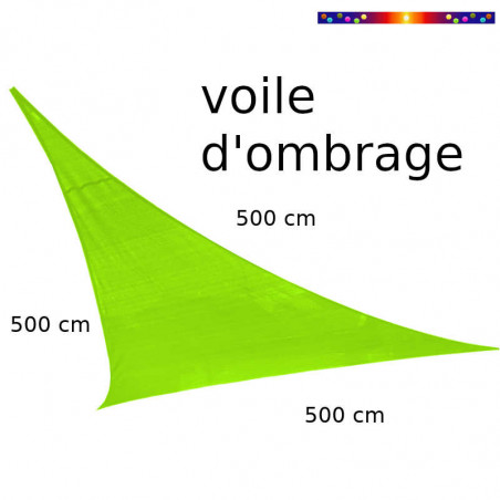 Voile Triangle 500 cm Vert Lime