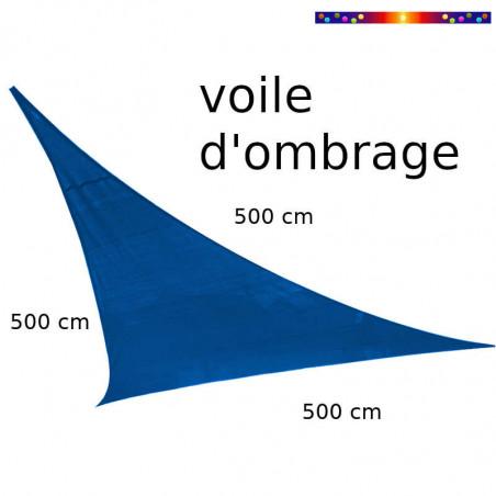 Voile Triangle 500 cm Bleu