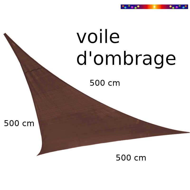 Voile Triangle 500 cm Chataigne