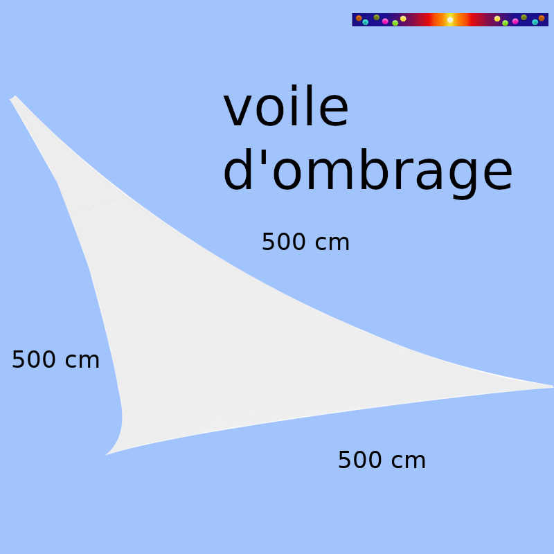Voile Triangle 500 cm Blanc