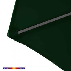 Toile HEXAGONAL 300/6 cm couleur Vert Pinède : détail du pochon d'accrochage de la baleine