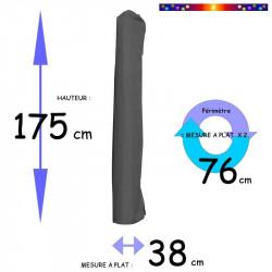 Housse pour parasol 175 cm x Largeur 38 cm : dimensions