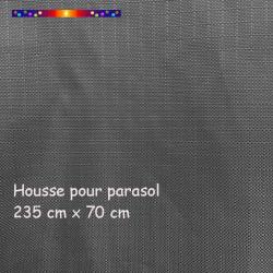 Housse pour parasol 235 cm x Largeur 70 cm : toile polyester enduction TPU