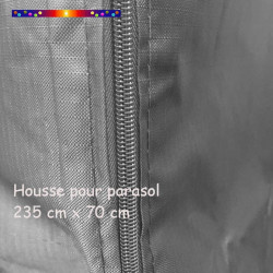 Housse pour parasol 235 cm x Largeur 70 cm  : zip