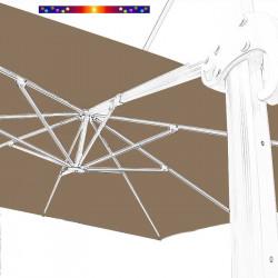 Toile 3x3 pour Parasol Biscarrosse Gris Taupe