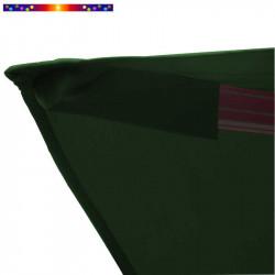 Toile 3x3 pour Parasol Biscarrosse Vert Forêt : détail du fourreau de fixation de la toile sur la baleine