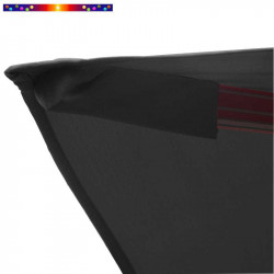 Toile 3x3 pour Parasol déporté Biscarrosse Gris Souris : détail du fourreau de fixation de la toile sur la baleine
