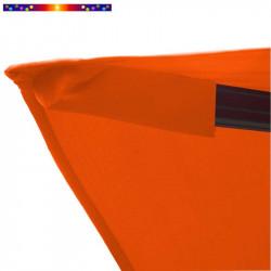 Toile 3x3 pour Parasol Biscarrosse Orange : détail du fourreau de fixation de la toile sur la baleine