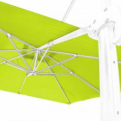 Toile 3x3 pour Parasol déporté Biscarrosse Vert Anis: vue de la toile sur l'armature