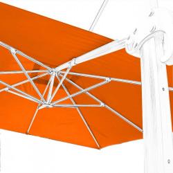 Toile 3x3 pour Parasol Biscarrosse Orange vue de dessous