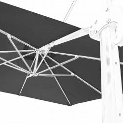 Toile 3x3 pour Parasol déporté Biscarrosse Gris Souris