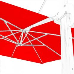 Toile de remplacement 3x3 pour Parasol Excentré Biscarrosse Rouge Coquelicot