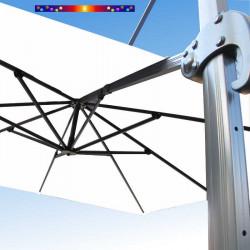 Toile de remplacement 3x3 pour Parasol Excentré Biscarrosse Blanc Jasmin