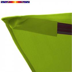 Toile 3x3 pour Parasol déporté Biscarrosse Vert Anis : détail du fourreau de fixation de la toile