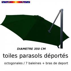 Toile de remplacement OCTOGONALE 350 CM pour Parasol EXCENTRE Biscarrosse Couleur Vert Pinède