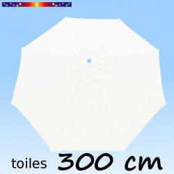 Toile de remplacement pour parasol 300 cm Blanc Jasmin sur fond bleu