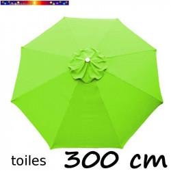 Toile de remplacement pour parasol 300 cm Vert Lime vue de dessus