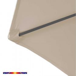Toile de remplacement pour parasol HEXAGONAL 300 cm couleur Soie Grège : détail du pochon d'accrochage de la baleine